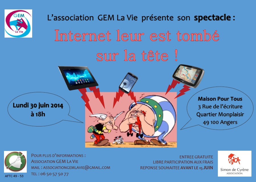 Affiche Spectacle GEM La Vie 30-06-14